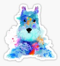schnauzer watercolor pet portrait | Amy Sticker