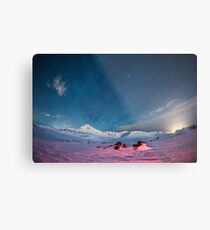 Starry Icelandic Night Sky  Metal Print