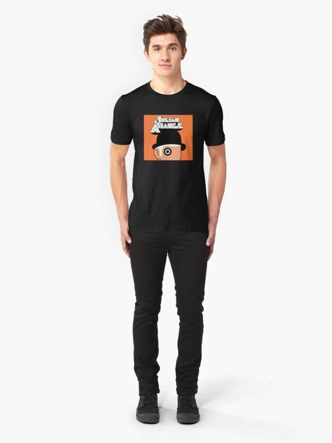 Alternate view of A Clockwork Julian Assange Slim Fit T-Shirt