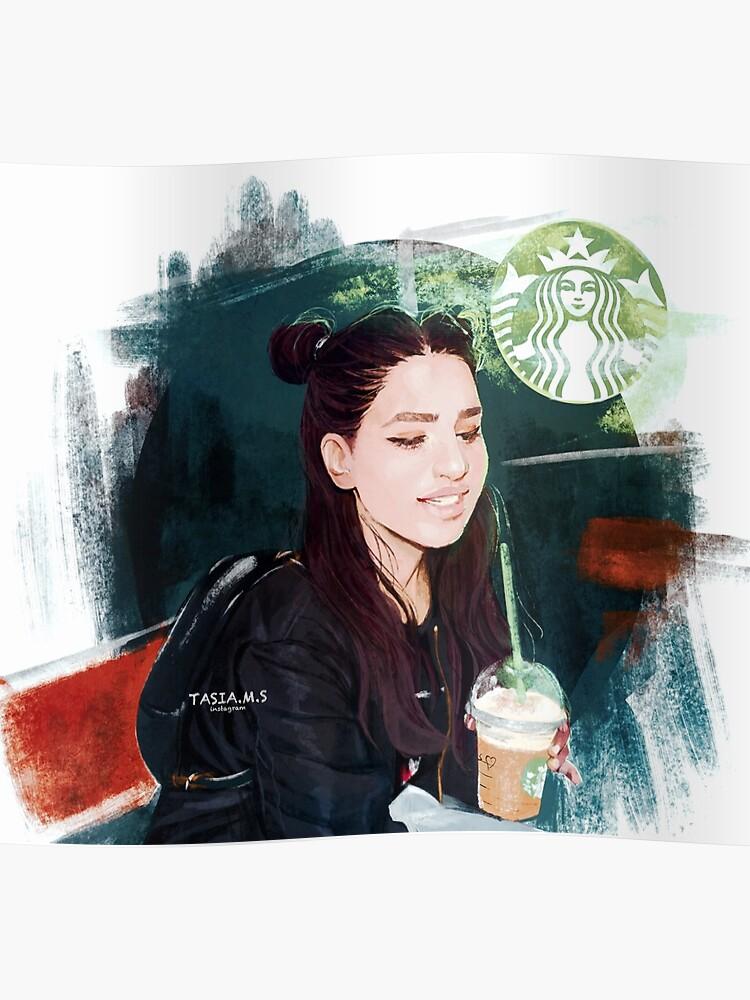 Starbucks Girl Poster