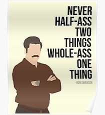 Ron Swanson Quote Poster