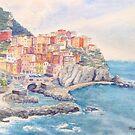 Manarola, Cinque Terre, Italy by Virginia  Coghill