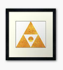 Triforce nintendo Framed Print