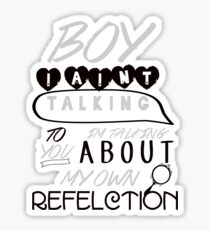 Reflection Typography Sticker