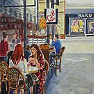 Coffee Break in Block Place 2 by Virginia  Coghill