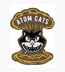 Atom Cats Patch Photographic Print