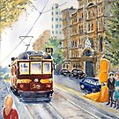 Vintage Tram Melbourne by Virginia  Coghill