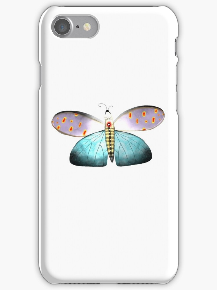 Butterfly delicate gorgeous aqua polka dots transparency  by rupydetequila