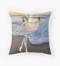 Like a Wave Throw Pillow