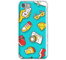 Teal Retro Street Urban Style iPhone Case/Skin