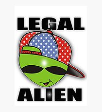 legal aliens green on the scene Photographic Print