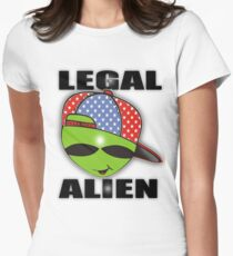 legal aliens green on the scene Womens Fitted T-Shirt