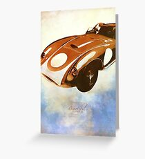 Classics Car X Greeting Card