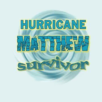 Hurricane Matthew Waves Survivor by Lallinda