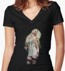 Taylor Momsen-the pretty reckless Women's Fitted V-Neck T-Shirt