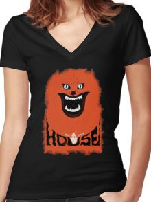 House (hausu) - Logo Women's Fitted V-Neck T-Shirt
