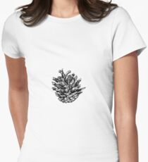 Pine cone Womens Fitted T-Shirt