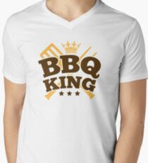 BBQ KING Men's V-Neck T-Shirt