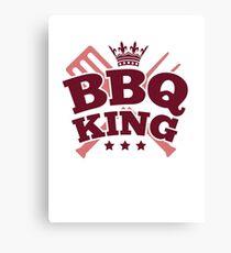 BBQ KING Canvas Print