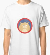 Cute fluffy Hamster with red circle Classic T-Shirt