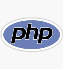 PHP logo 2D Sticker