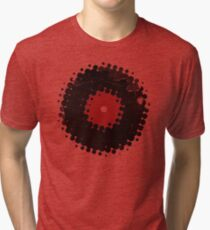 Grunge Vinyl Records Retro Vintage 50's Style Tri-blend T-Shirt