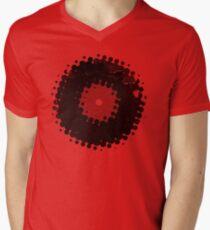 Grunge Vinyl Records Retro Vintage 50's Style Mens V-Neck T-Shirt