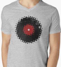 Grunge Vinyl Records Retro Vintage 50's Style Men's V-Neck T-Shirt