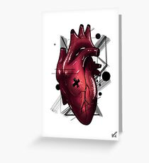 Heart - Stylish Beat (RED) Greeting Card