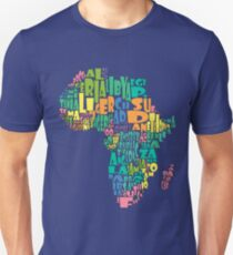 African Country Map Cloud Unisex T-Shirt