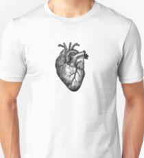 Camiseta unisex Anatomía del corazón de la vendimia