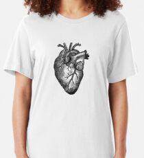 Vintage Heart Anatomy Slim Fit T-Shirt