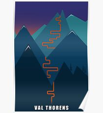Val Thorens Skiing Poster