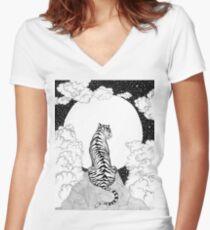 Tiger Mond Shirt mit V-Ausschnitt