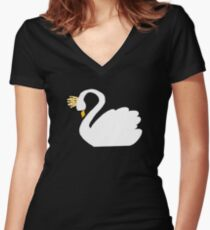 Swan Queen Sweater Women's Fitted V-Neck T-Shirt