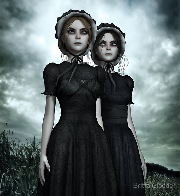 They are coming - the deadly Halloween twins by Britta Glodde
