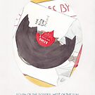 Haruki Murakami's South of the Border, West of the Sun Watercolour Novel Illustration by arosecast