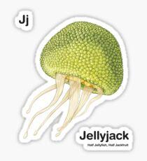 Jj - Jellyfruit // Half Jellyfish, Half Jackfruit Sticker