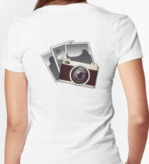 Vintage, Camera, Photographer, Photos, SLR Women's Fitted V-Neck T-Shirt