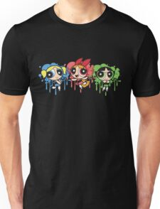 The PowerPuff Girls Paint Splatter Design Unisex T-Shirt