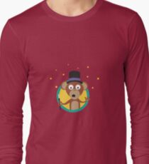 Monkey wizard with stars Long Sleeve T-Shirt