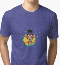 Monkey wizard with stars Tri-blend T-Shirt