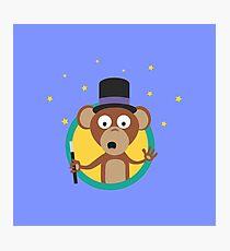 Monkey wizard with stars Photographic Print