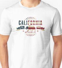 California Stars and Stripes Unisex T-Shirt