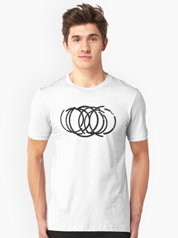 Grunge Abstract Circles Unisex T-Shirt Front