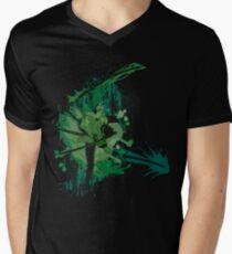 Splatter Swordsman Men's V-Neck T-Shirt