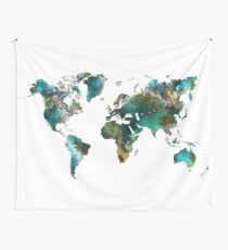 World Map tree Wall Tapestry