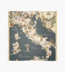 Pañuelo Mapa gastronómico de Italia 1949