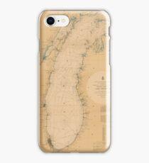 Map of Lake Michigan 1898 iPhone Case/Skin