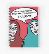 Her hijab doesn't match... Spiral Notebook